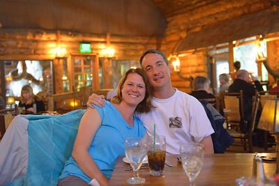 Dinner at the Old Faithful Inn dining room