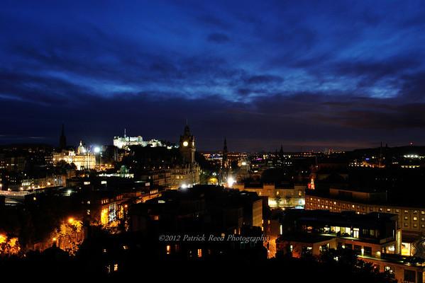 Edinburgh at night from Calton Hill