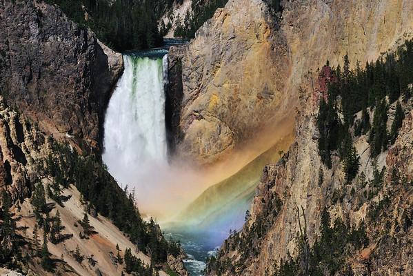 Rainbow in Lower Falls mist
